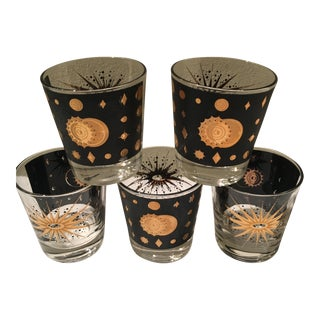 Mid-Century Double Old Fashioned Glasses - Set of 5