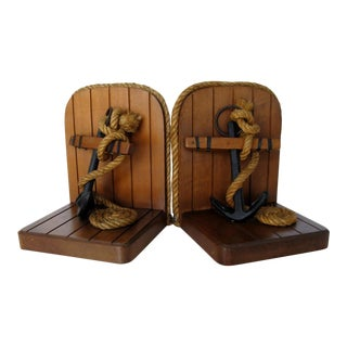 Vintage Nautical Style Bookends - a Pair