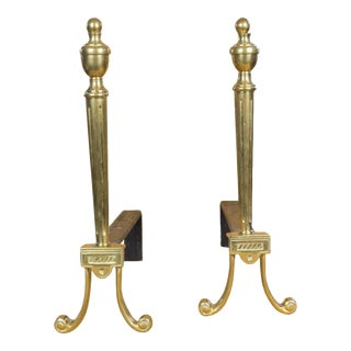 Elegant Pair of French Fire Andirons