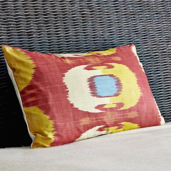 Red and Yellow Ikat Pillow Cover - Image 2 of 2