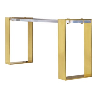 Modern History Home Plexi Slab Console Table