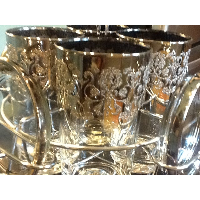Chrome Caddy Silver Ombre Glasses & Coasters Set - Image 7 of 7