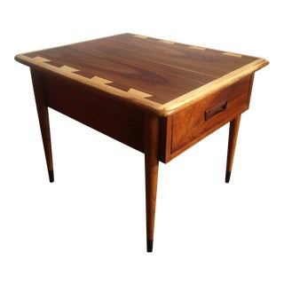 Lane Mid Century Modern Walnut End Table With Drawer