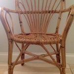 Image of Mid-century Rattan Arm Chair