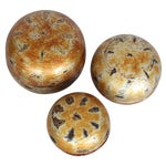 Image of Asian Gilt Lacquered Nesting Boxes - Set of 3