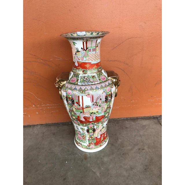 Rose Medallion Floor Vase - Image 2 of 9