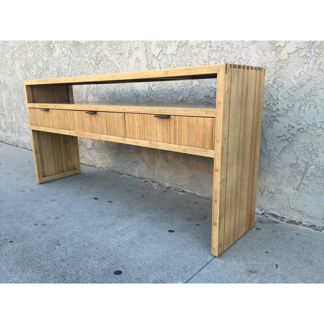 Solid Bamboo Console or Sofa Table - Image 3 of 5