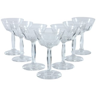 Cut Glass Tall Sherbet Glasses - Set of 7