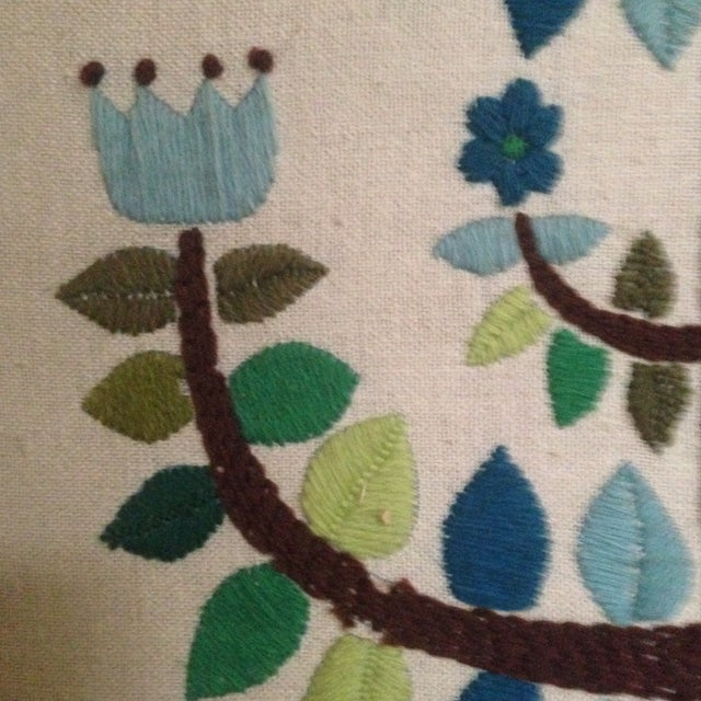 Vintage Tree of Life Textile Wall Art - Image 9 of 11