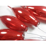 Image of Red Glass Icicle Ornaments - Set of 6