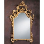 Image of Hand Carved and Decorated Wood Mirror