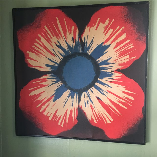 Original Tom Tru Vintage Poppy Sreen Print - Image 4 of 9