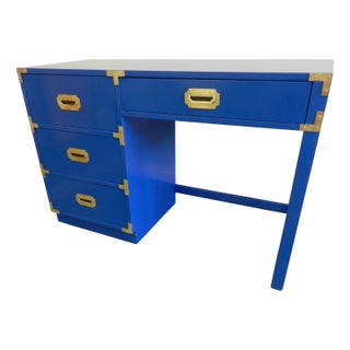 Royal Blue Vintage Campaign Desk