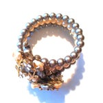 Image of 1960s Baroque Faux Pearl Wire Wrap Bracelet
