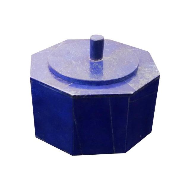 Octagonal Lapis Lazuli Box - Image 1 of 4