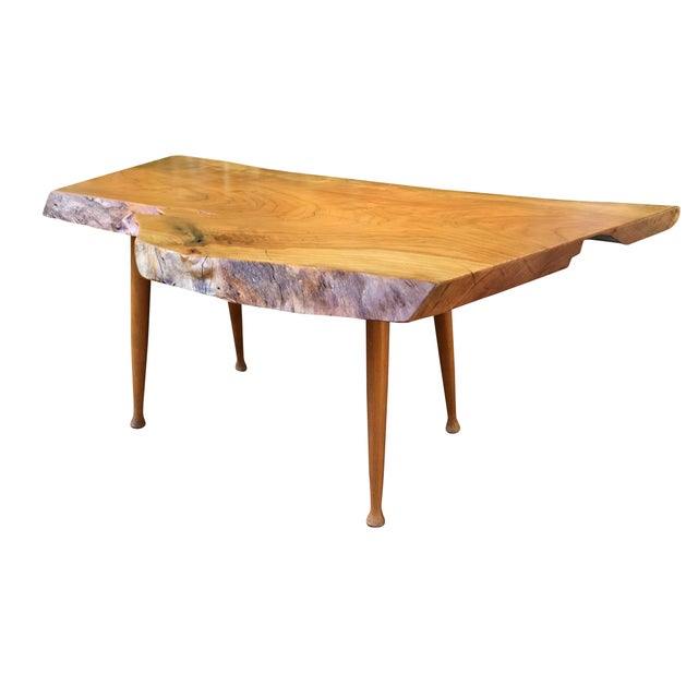Image of Cherry Burl Live Edge Coffee Table