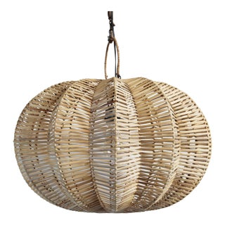 Split Raw Rattan Pumpkin Lantern 24""