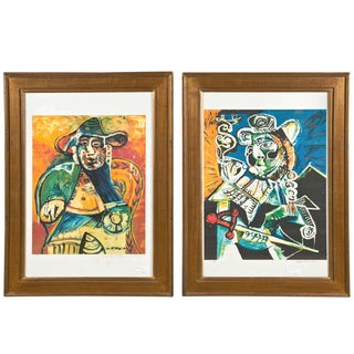 Framed Pablo Picasso Lithographs - A Pair