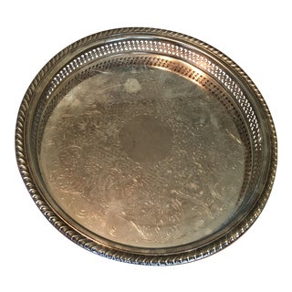 International Silver Co. Round Silver Tray
