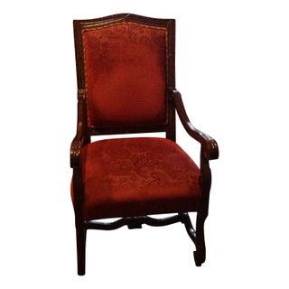 Iltamond Hand Carved Velvet Accent Chair