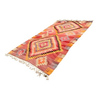 Vintage Turkish Kilim Rug - 6′1″ × 11′
