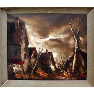 Dark Modernist Expressionist Landscape
