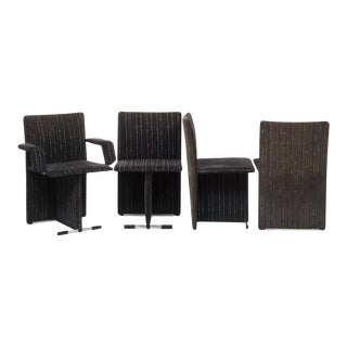 Giovanni Offredi for Saporiti Set of Four Upholstered chairs, Italy, Circa 1970