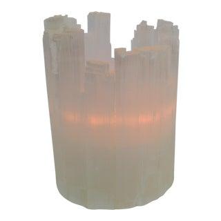 Selenite Tealight Candle Holder