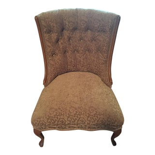 Mid-Century Tufted Taupe Chair