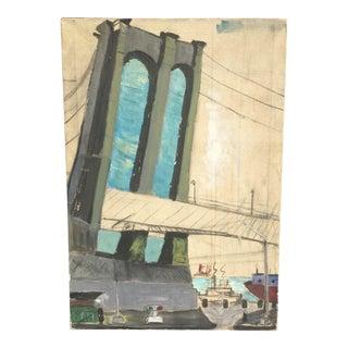 Oil Painting of Brooklyn Bridge
