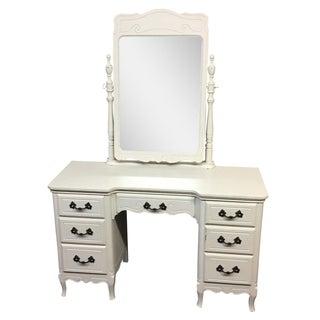 Shabby Chic Vanity & Tilting Mirror
