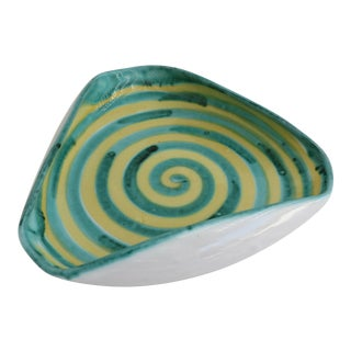 Italian Ceramic Spiral Bowl