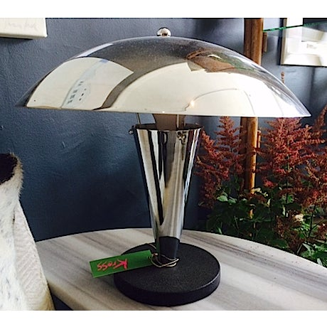 Mid-Century Industrial Chrome Table Lamp - Image 2 of 4