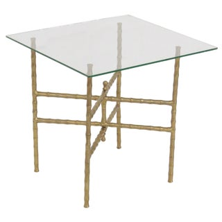 Faux Bamboo Glasstop Table