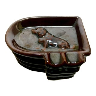 Art Deco Dog Themed Flapper Ashtrays - Set of 4