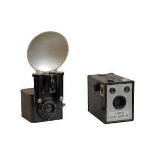 Ansco & Brownie Vintage Cameras - Set of 2