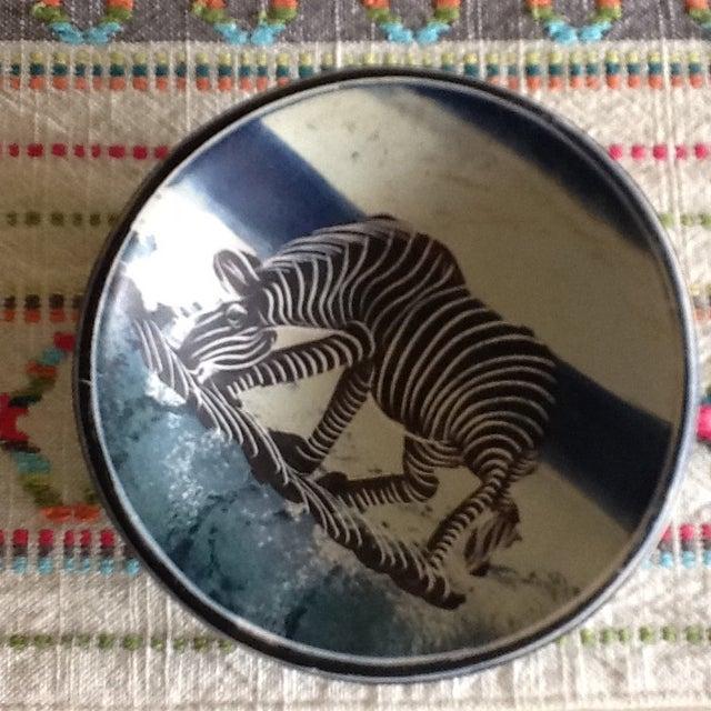 African Zebra Trinket Tray - Image 4 of 11