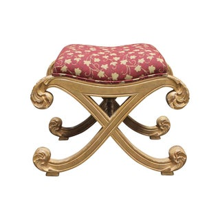Gilded Ornate Cushioned Bench