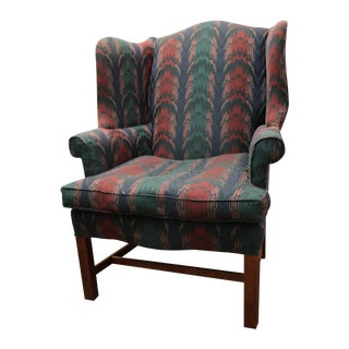 Chippendale Bolster Sided Fireside Wing Chair