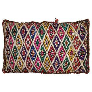 Moroccan Multicolor Diamond Pillow