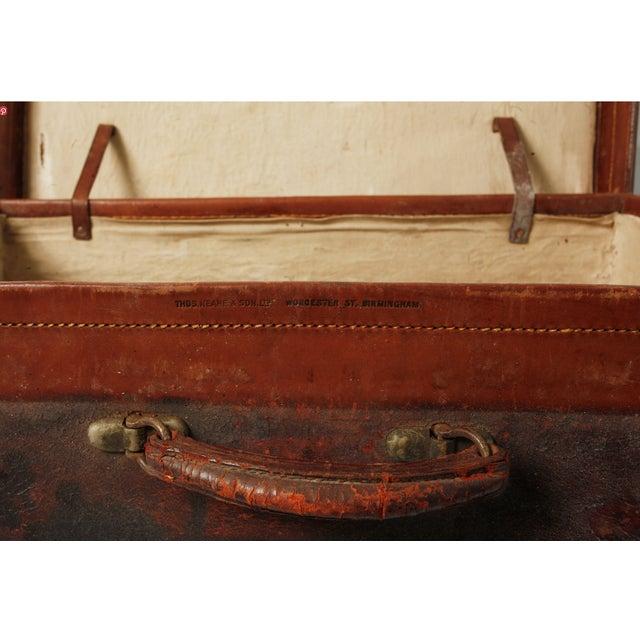 Vintage English Leather Suitcase - Image 4 of 4