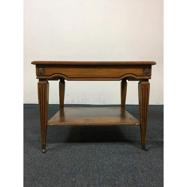 Vintage Walnut Marble Travertine Coffee Table Chairish