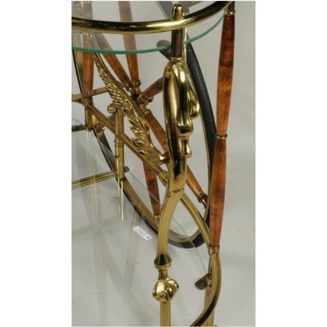 Vintage Brass & Glass Drink Cart - Image 3 of 4