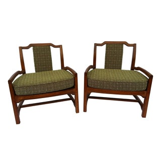 Mid-Century Asian Influenced Armchairs