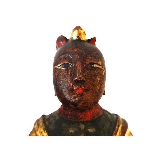 Image of Giltwood Royal Female Statue