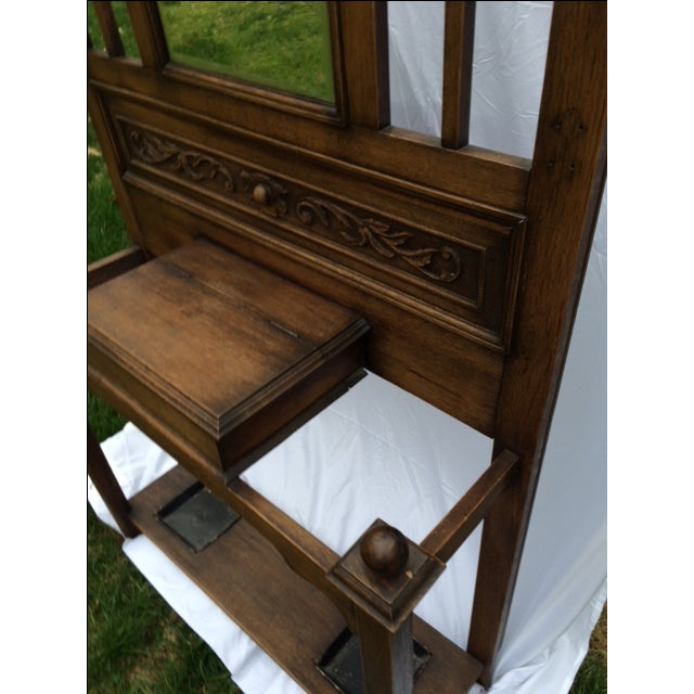 Antique English Oak Hall Stand - Image 7 of 7