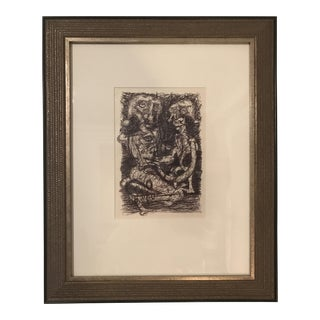 1992 Framed Original Ink Drawing