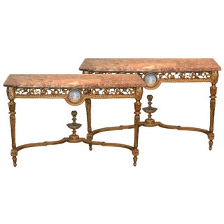 Pair of French Louis XVI Consoles