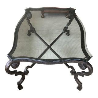 Glass & Iron Coffee Table
