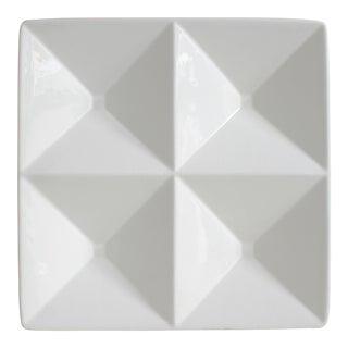 Arabia Finland Origami Serving Platter Tray White Kaj Franck Ceramic Mid Century Modern
